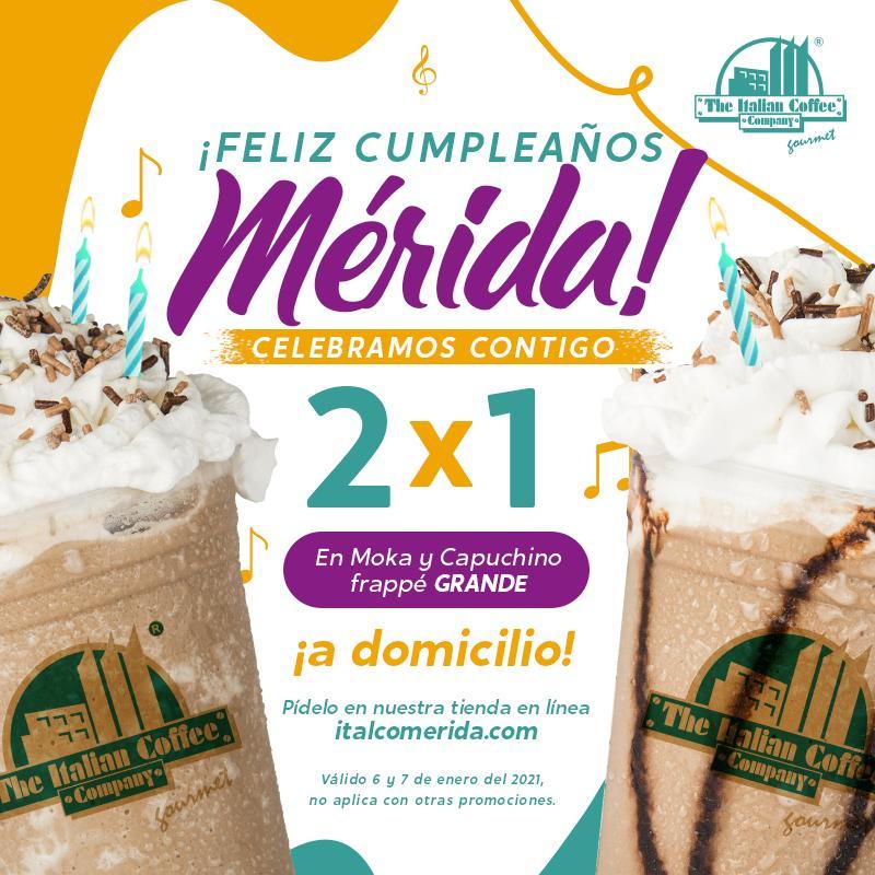 italian coffee merida 2X1 FRAPPES