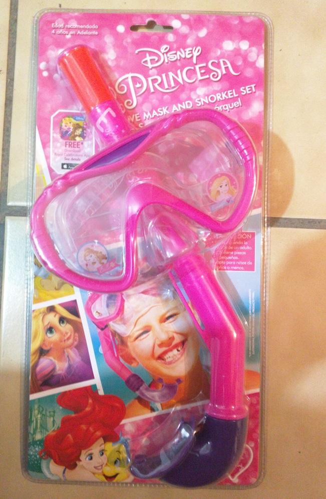 Bodega Aurrerá Chimalhuacán: Disney Princesa Set de Visor y Snorkel de $249 a $25.01