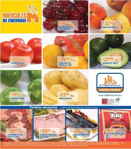 Miércoles de frutas y verduras en Chedraui agosto 22: pepino $5.80, cebolla $6.70 y más