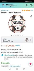 Amazon: Balón SELECT FIFA Quality Pro