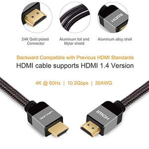Amazon: Cable HDMI 2.0 trenzado de 1.8m