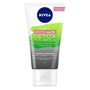 Amazon: Limpiador Facial en Gel Nivea 3 en 1 Efecto Mate 150ml