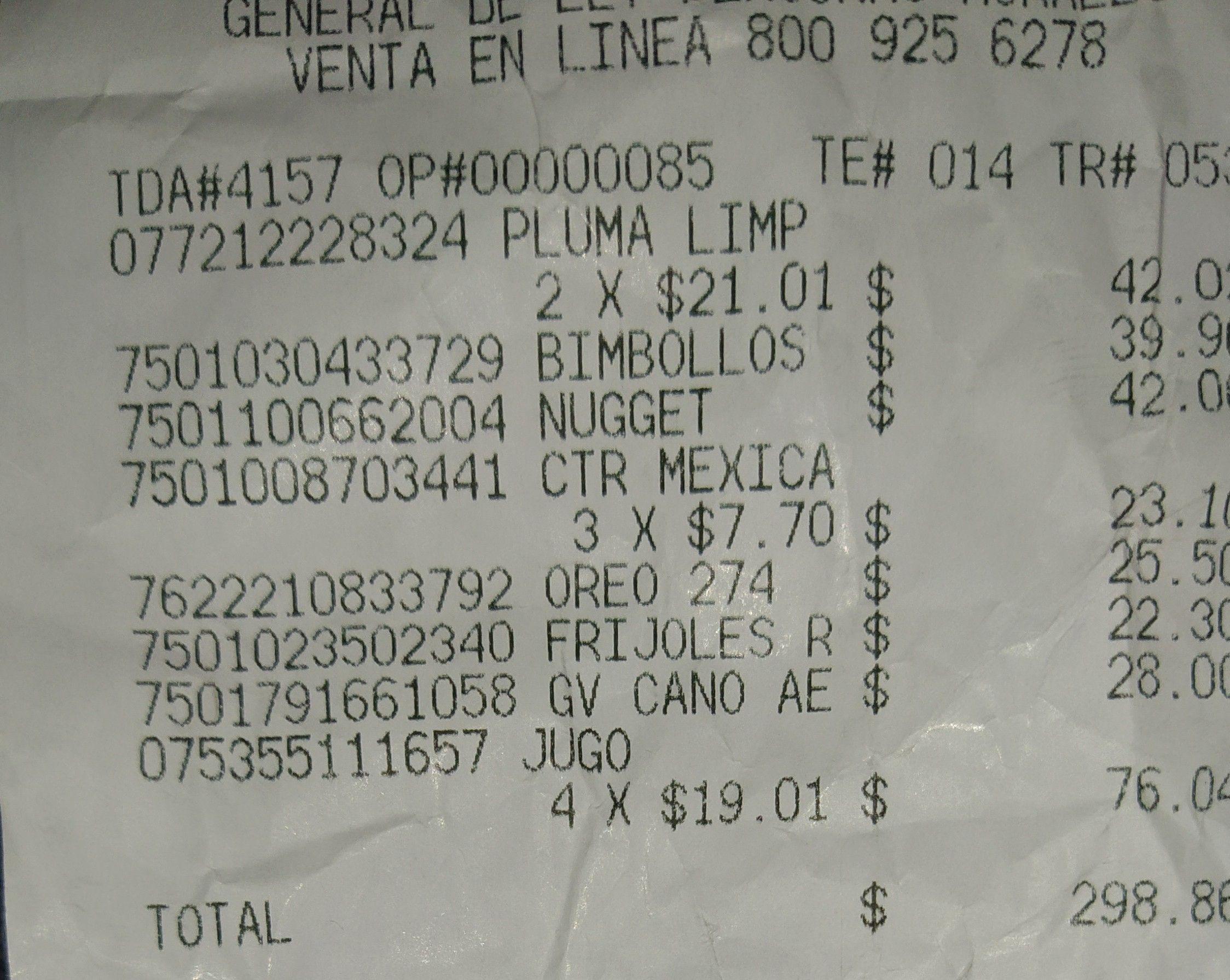 Walmart Periférico Cuautitlán: Jugos old orchard moras orgánico y plumas limpiadoras