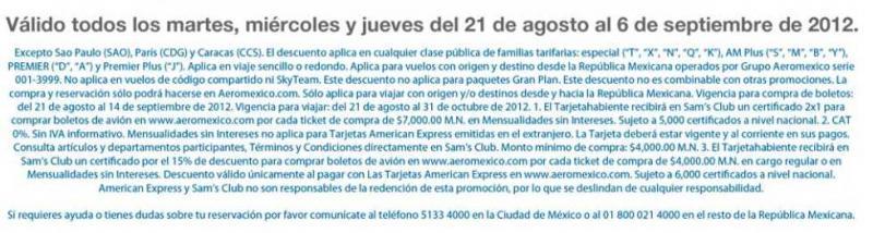 Sams Club: 2x1 en Aeroméxico y 24 meses sin intereses