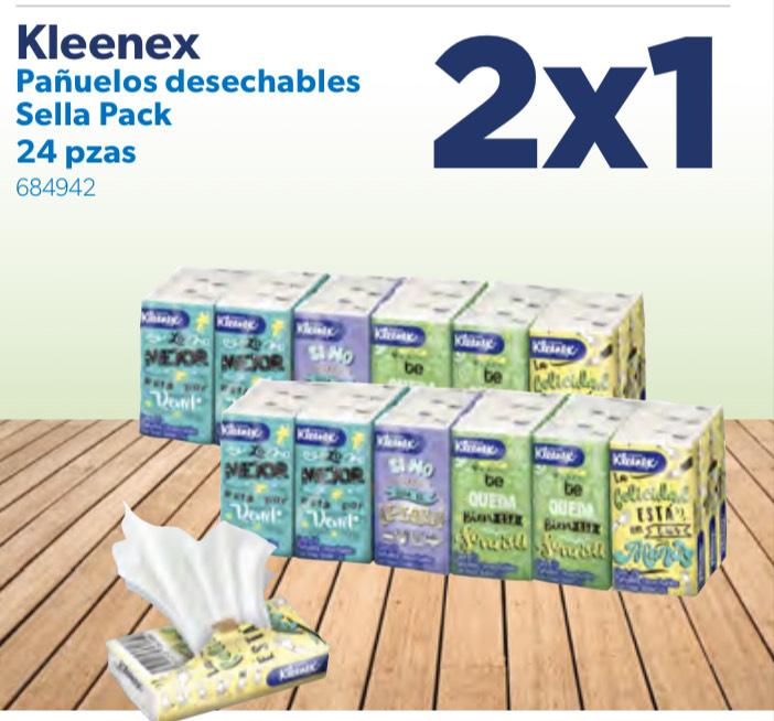 Sam's Club: 2x1 en Kleenex pañuelos desechables 24pzs