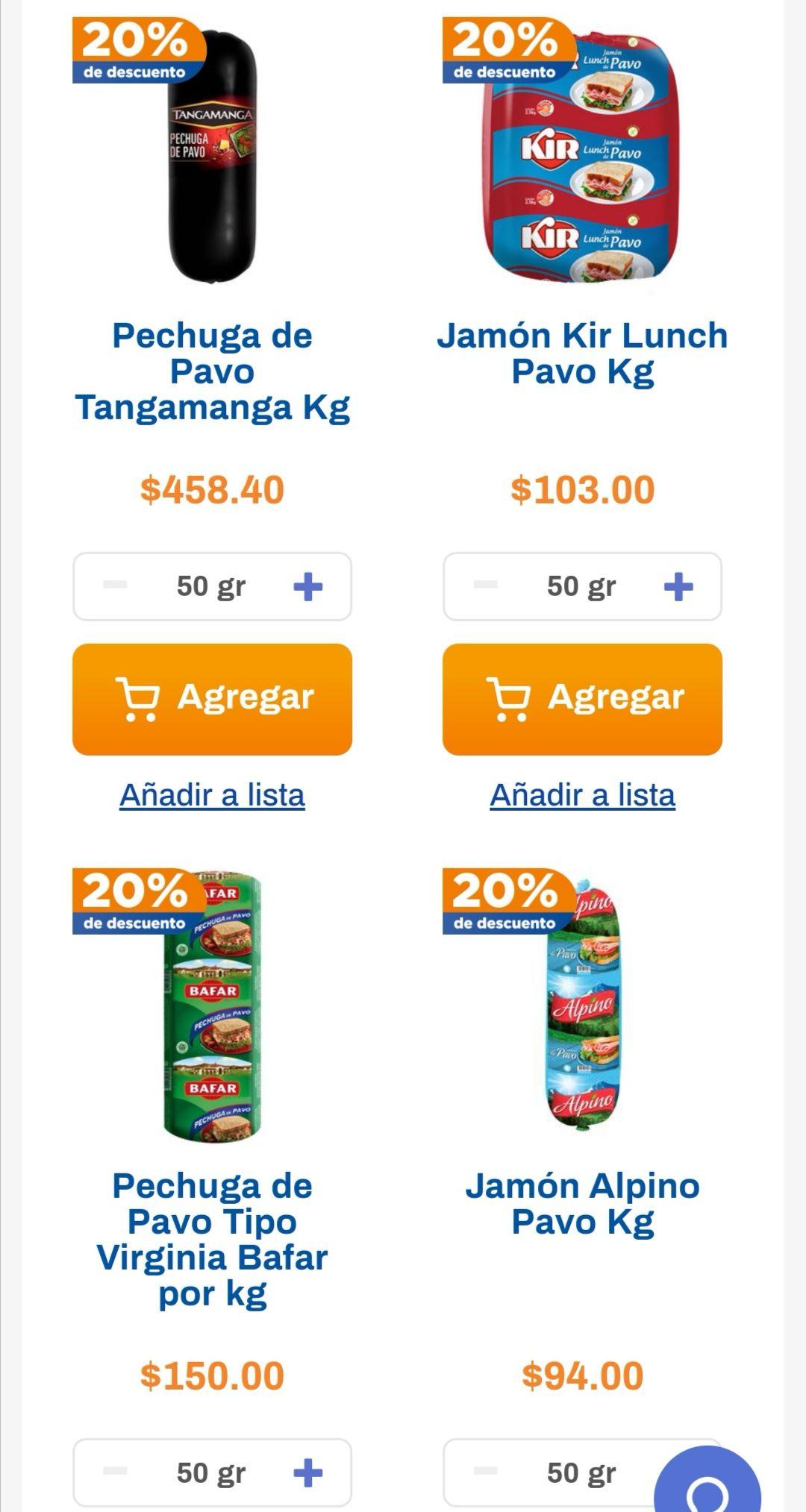 Chedraui: 20% de descuento en pechugas y jamones de pavo a granel seleccionados