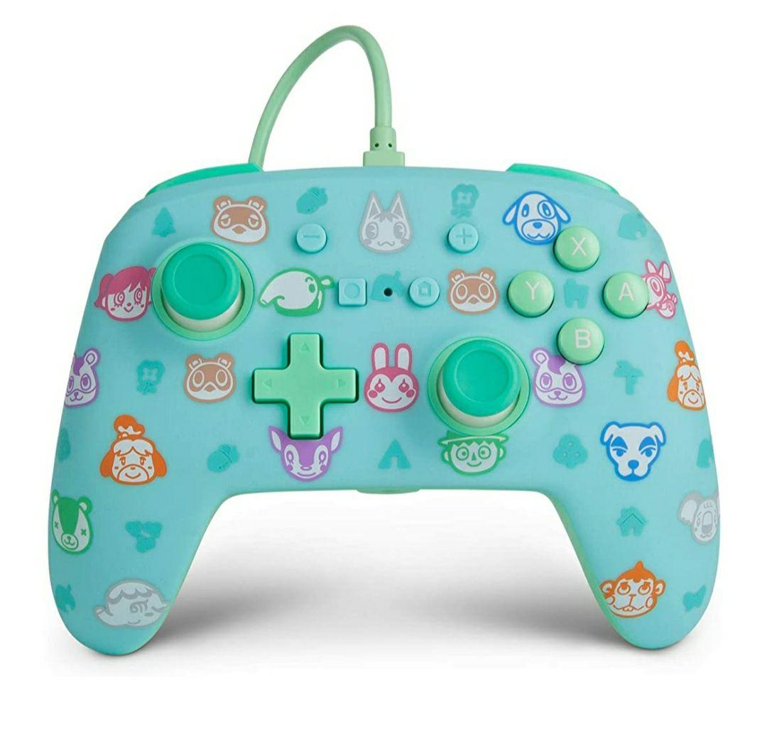 Amazon: Control alámbrico para Nintendo Switch - Animal Crossing - Marca PowerA