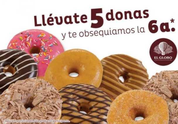 Pastelería El Globo: 6x5 en donas