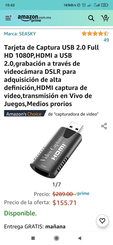Amazon: Capturadora de video