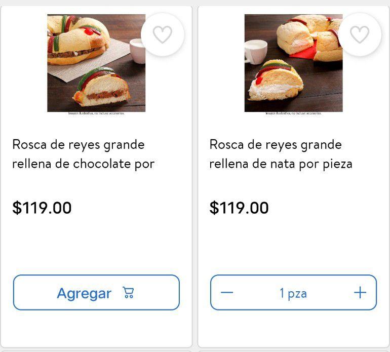 Walmart en Línea: Roscas de Reyes Rellenas
