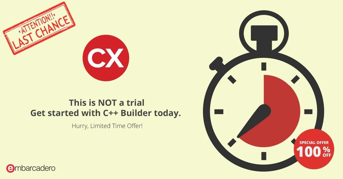 Embarcadero: C++ Builder Starter gratis y curso C Boot Camp