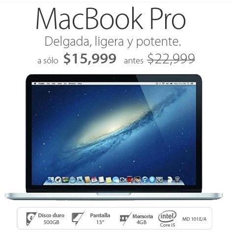 Walmart en línea: Mac rebajada, MacBook Pro MD 101E/A Intel Core i5 4GB RAM 500GB