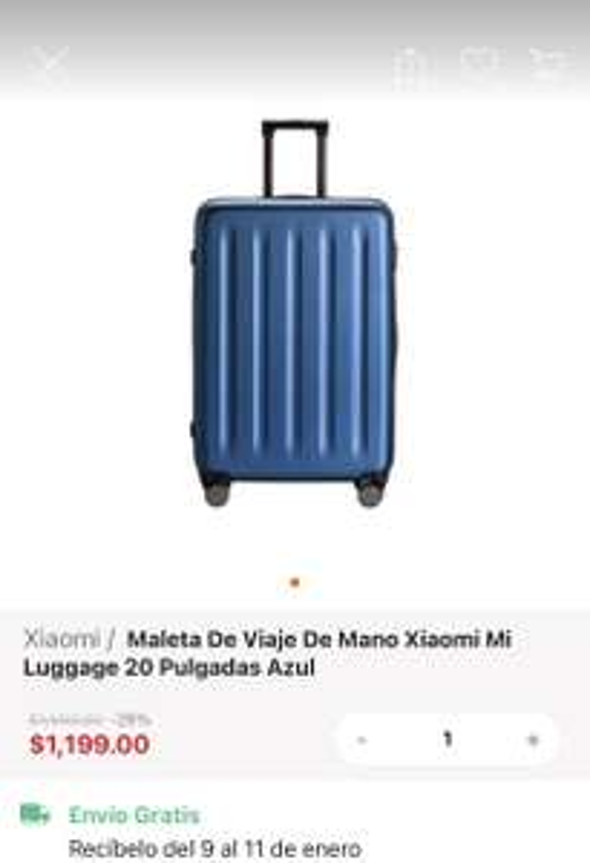 "Linio: Maleta Xiaomi Luggage Classic 20"""