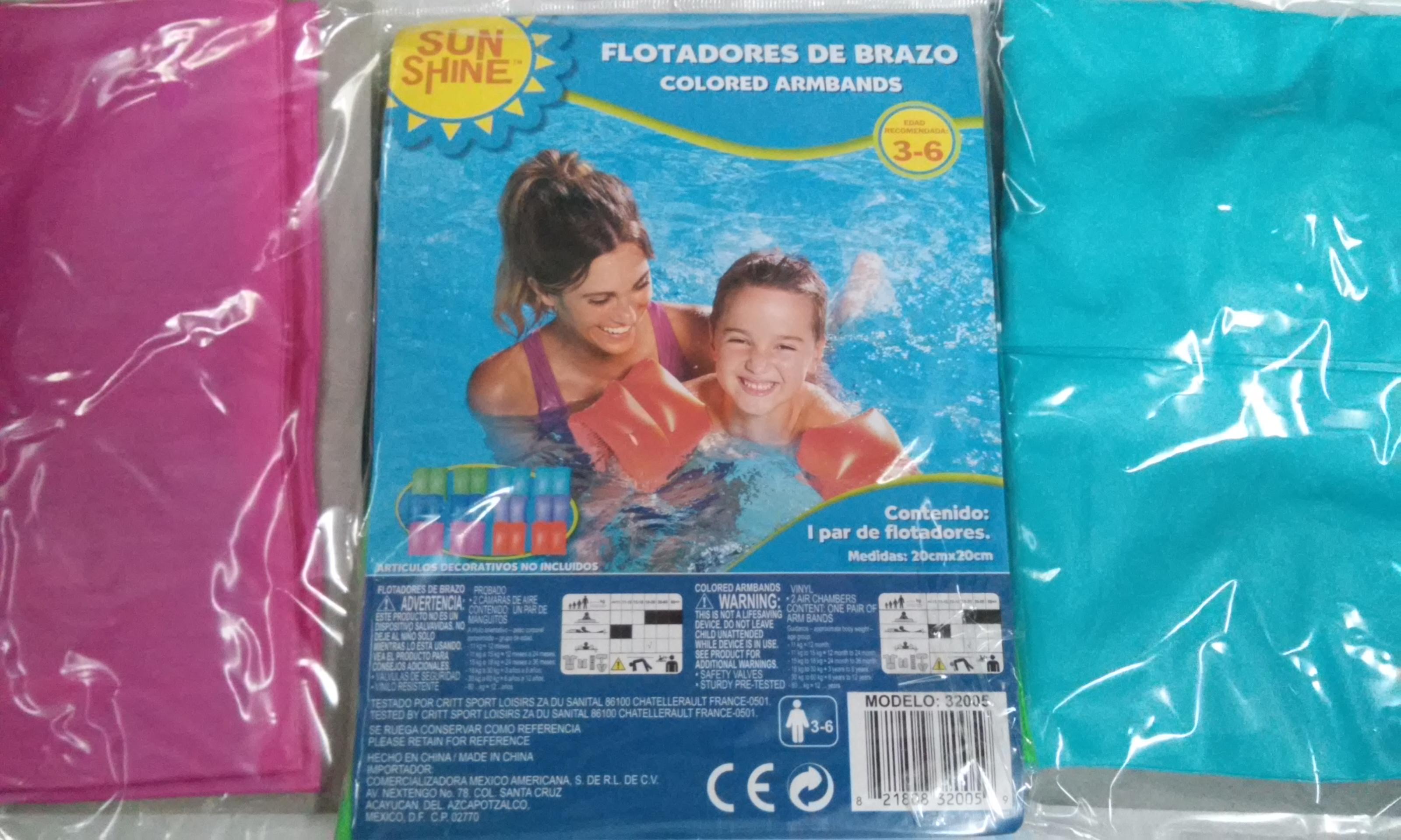 Walmart Cuitláhuac: Flotis para niños a $5.03 SunShine