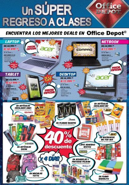 Office Depot: 40% de descuento en artículos escolares (actualización)