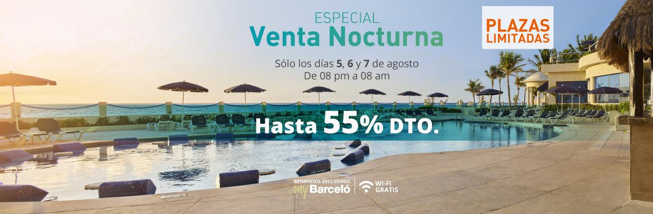 Hoteles Barcelo: hasta 55% de descuento en tu reservación