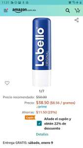 Amazon: Labello Bálsamo Labial con prime