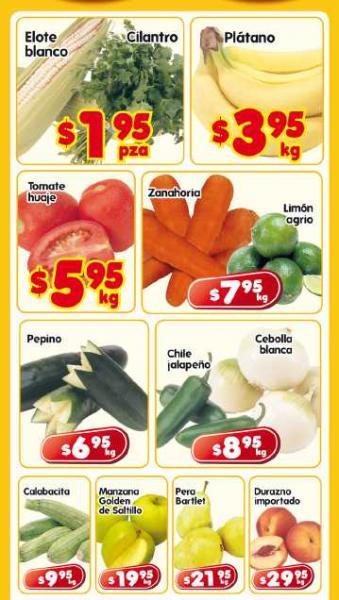 Frutas y verduras en HEB: plátano $3.95, tomate $5.95 y más