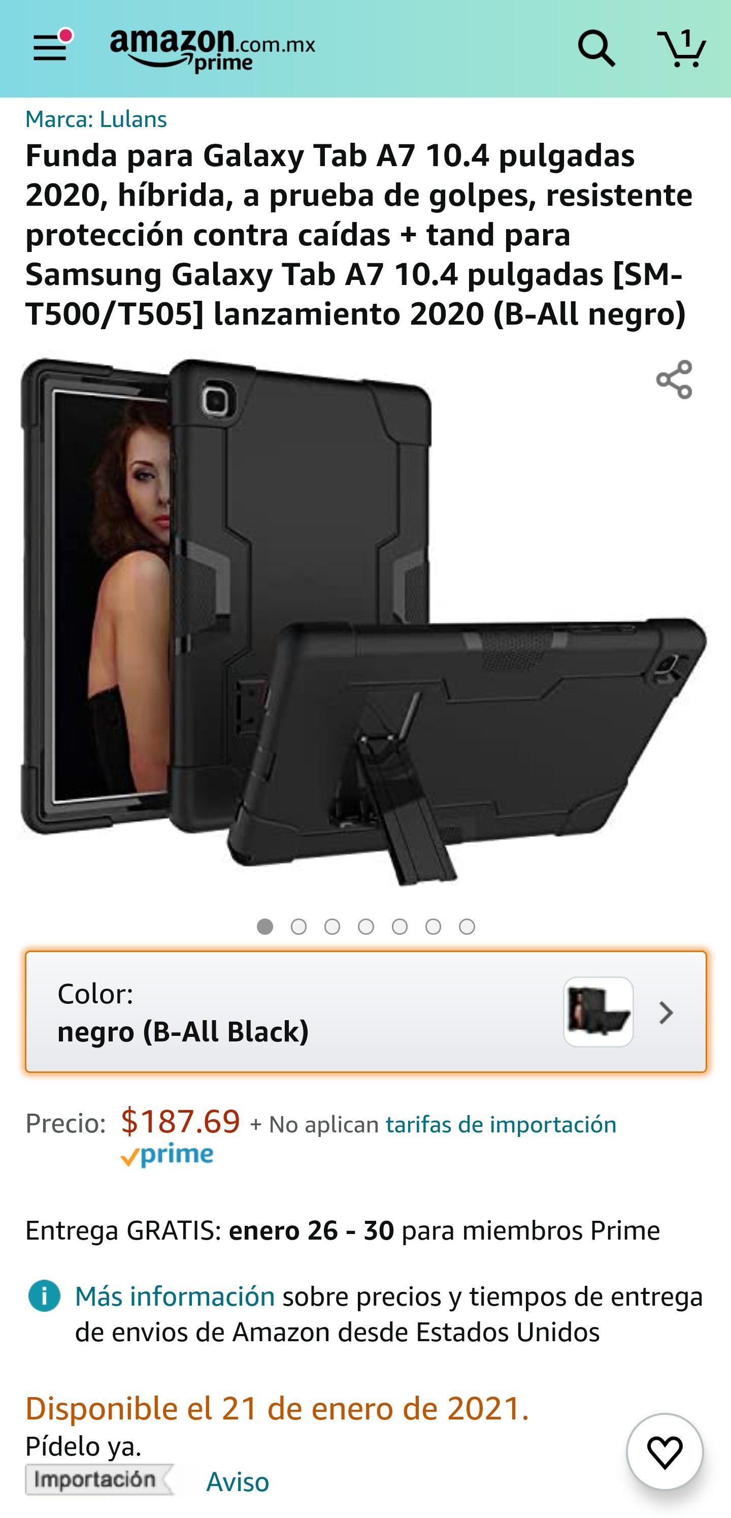 Amazon, Funda para Galaxy tab A7 2020
