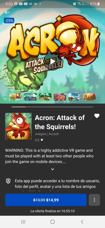 Oculus: Acron: Atack of the squirrels