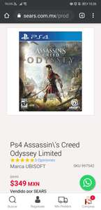 Sears Ps4 Assassin\'s Creed Odyssey Limited