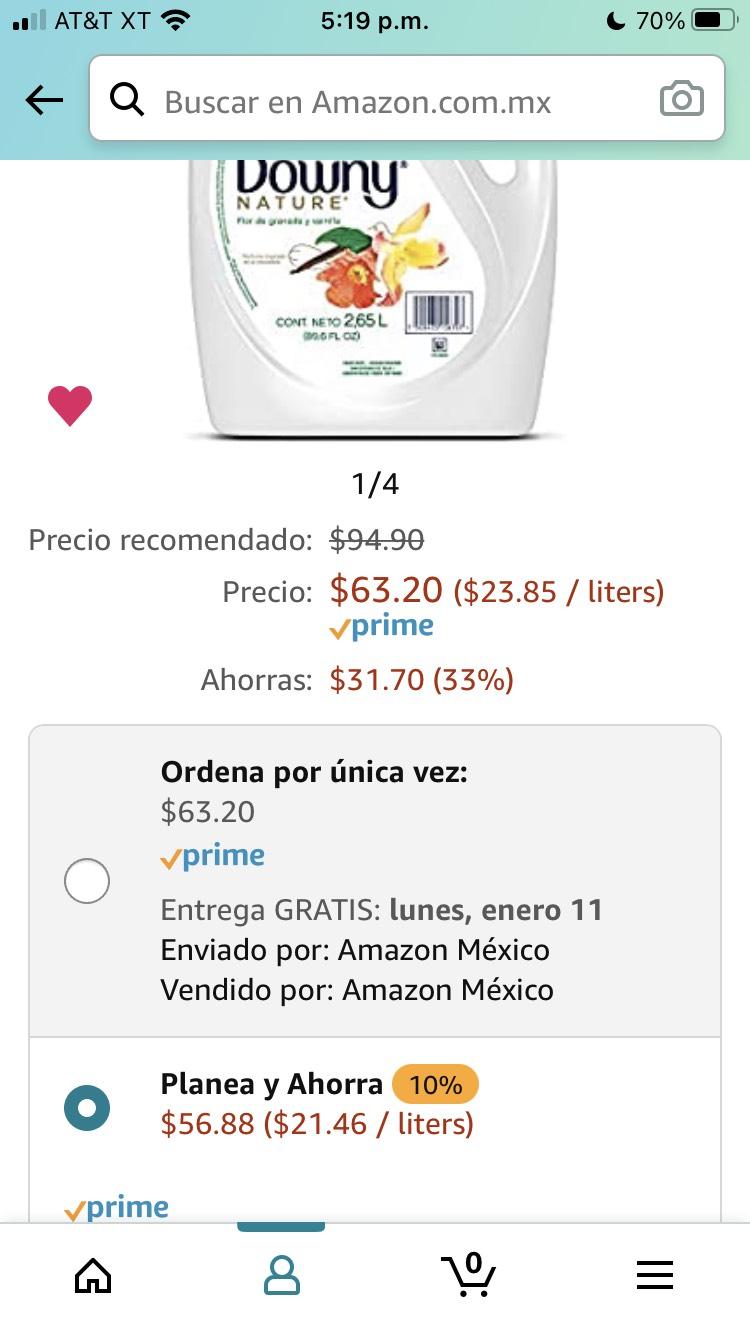 Amazon: Downy Nature Suavizante De Telas Concentrado Flor Granada y Vainilla 2.65L