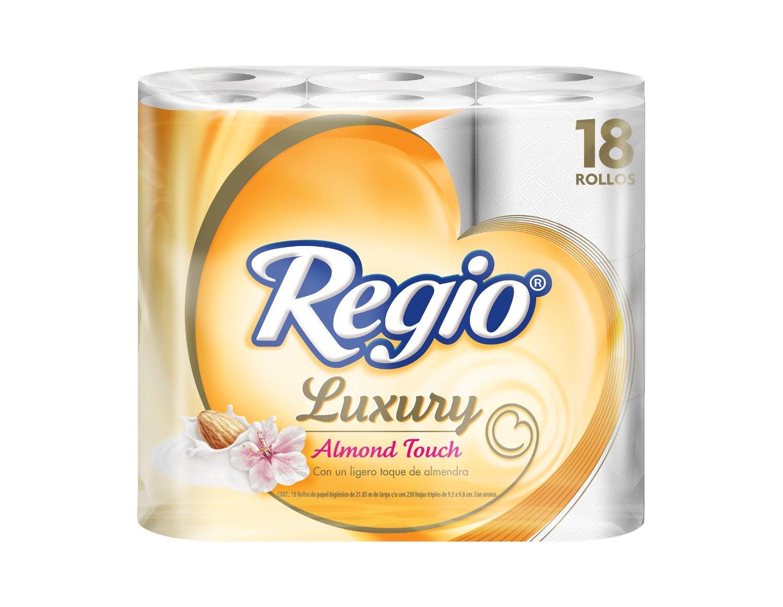 Amazon Mx: Regio Luxury Almendras con 18 Rollos de 215 hojas triples a $76