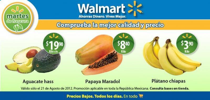Martes de frescura en Walmart agosto 21: plátano $3.90, papaya $8.40 y más
