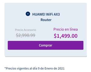 Telcel: HUAWEI WiFi AX3 Pro Router Quad Core WS7200