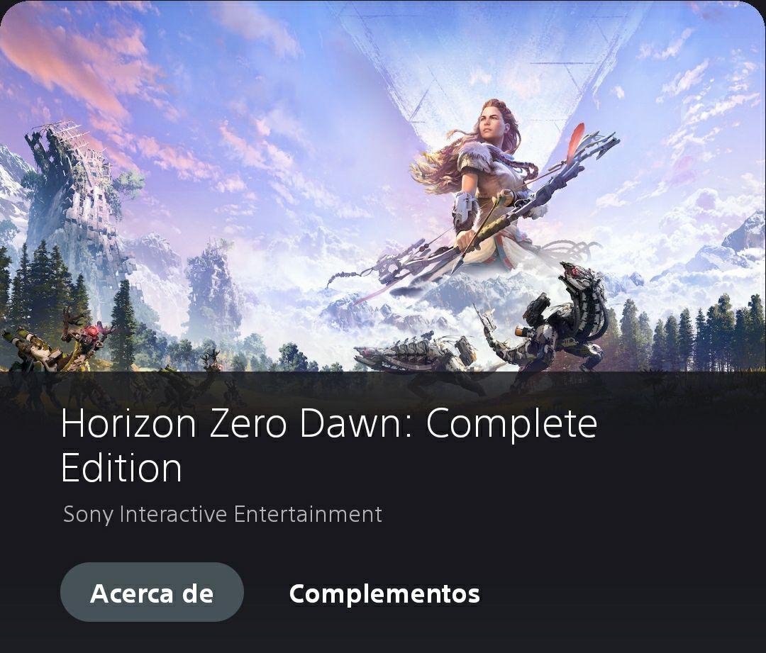 Playstation: Horizon Zero Dawn: complete edition