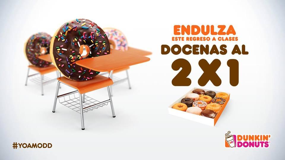 Dunkin Donuts: 2x1 las Docenas (lunes 8 de Agosto)