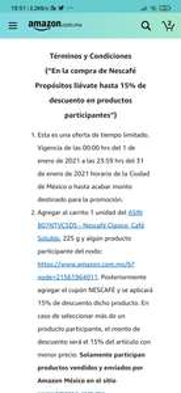 Amazon: Hasta 15% de descuento en productos seleccionados Nescafe