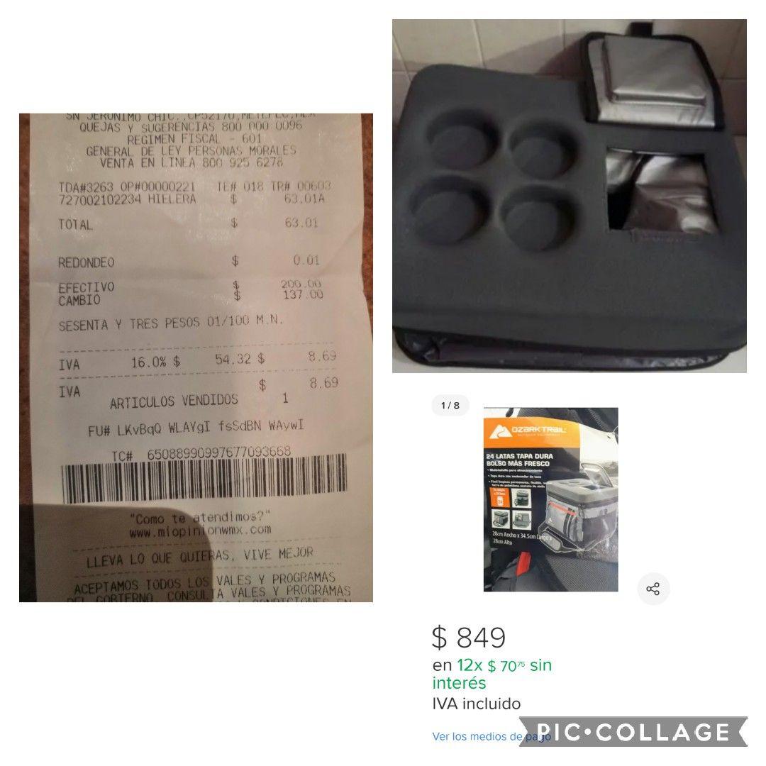 QUE CHULADA!! Hielera Ozark Trail para 24 latas, tapa rígida con 4 portavasos a super precio en Walmart!!!