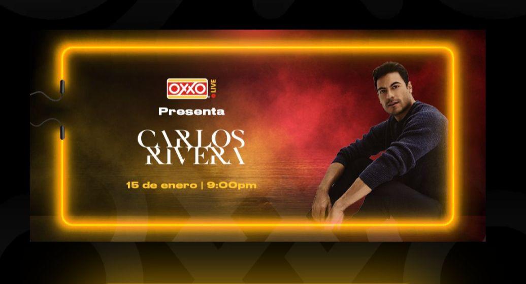 Oxxo Carlos rivera concierto live GRATIS
