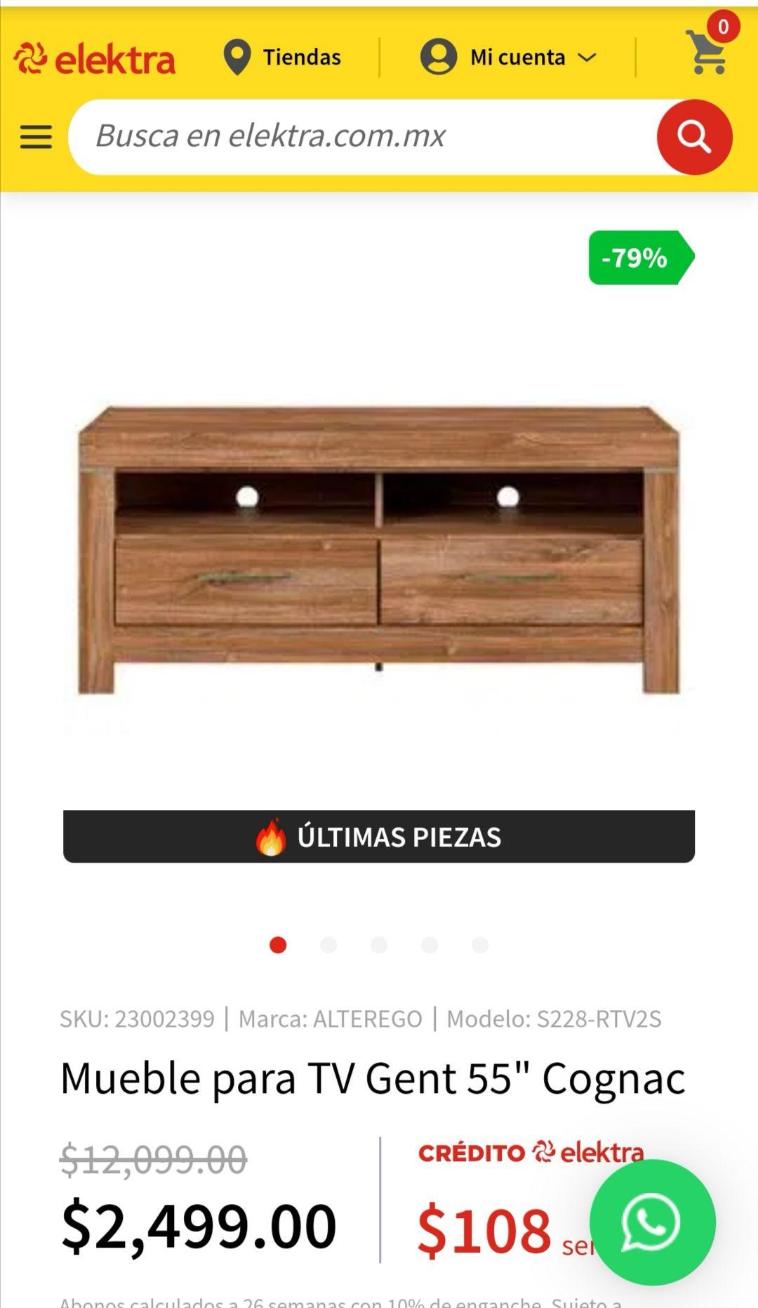 """Elektra: Mueble para TV de 55"""""""