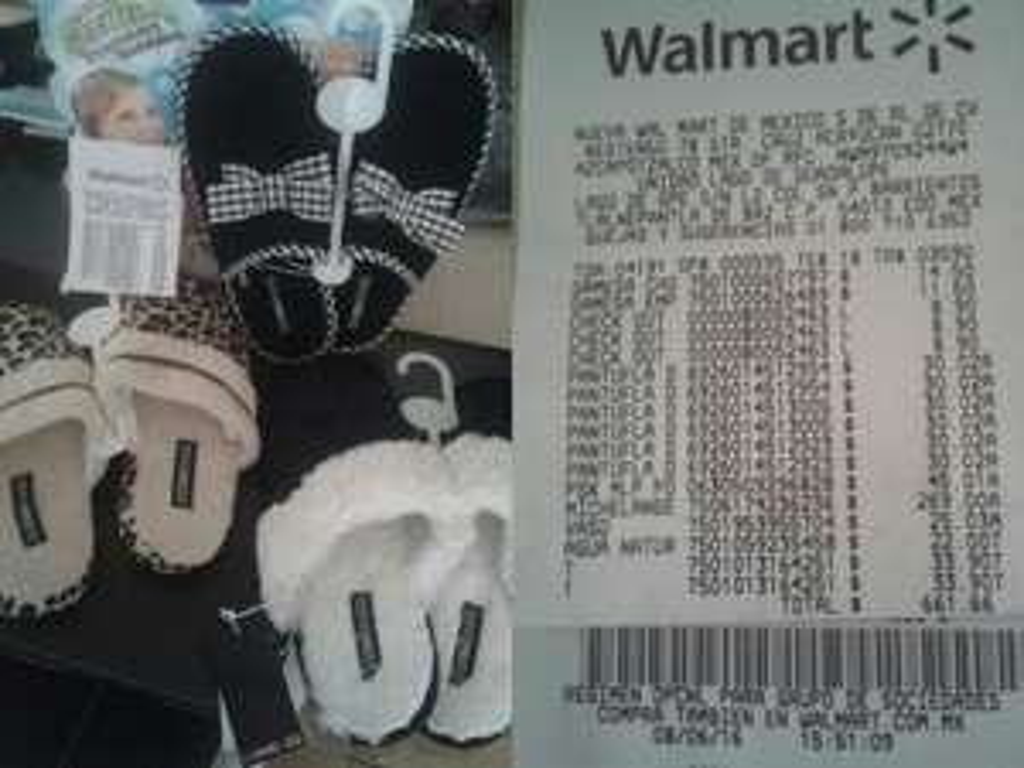 Walmart Lago de Guadalupe: Pantunflas a $30.02