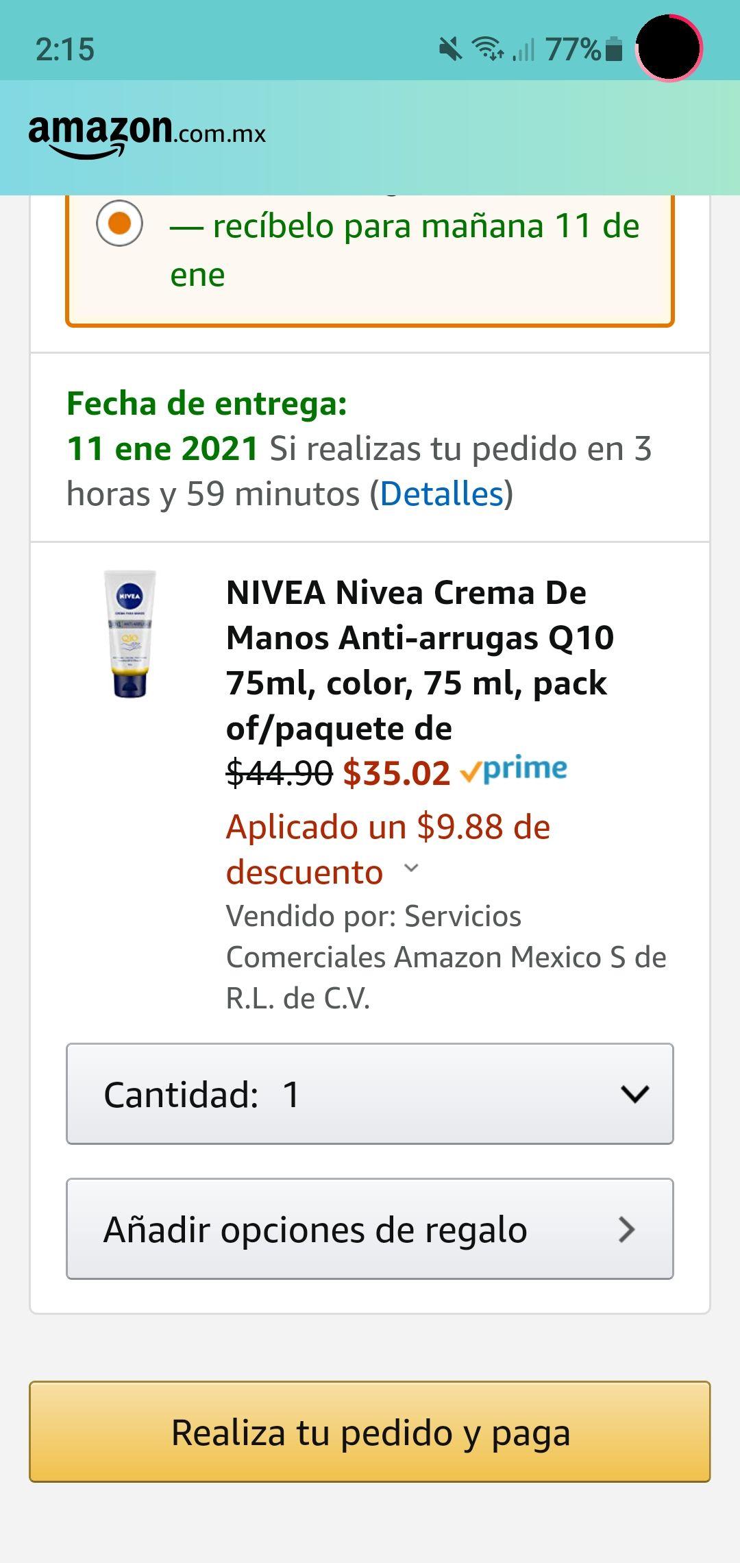 Amazon: Nivea Crema de manos anti arrugas q10