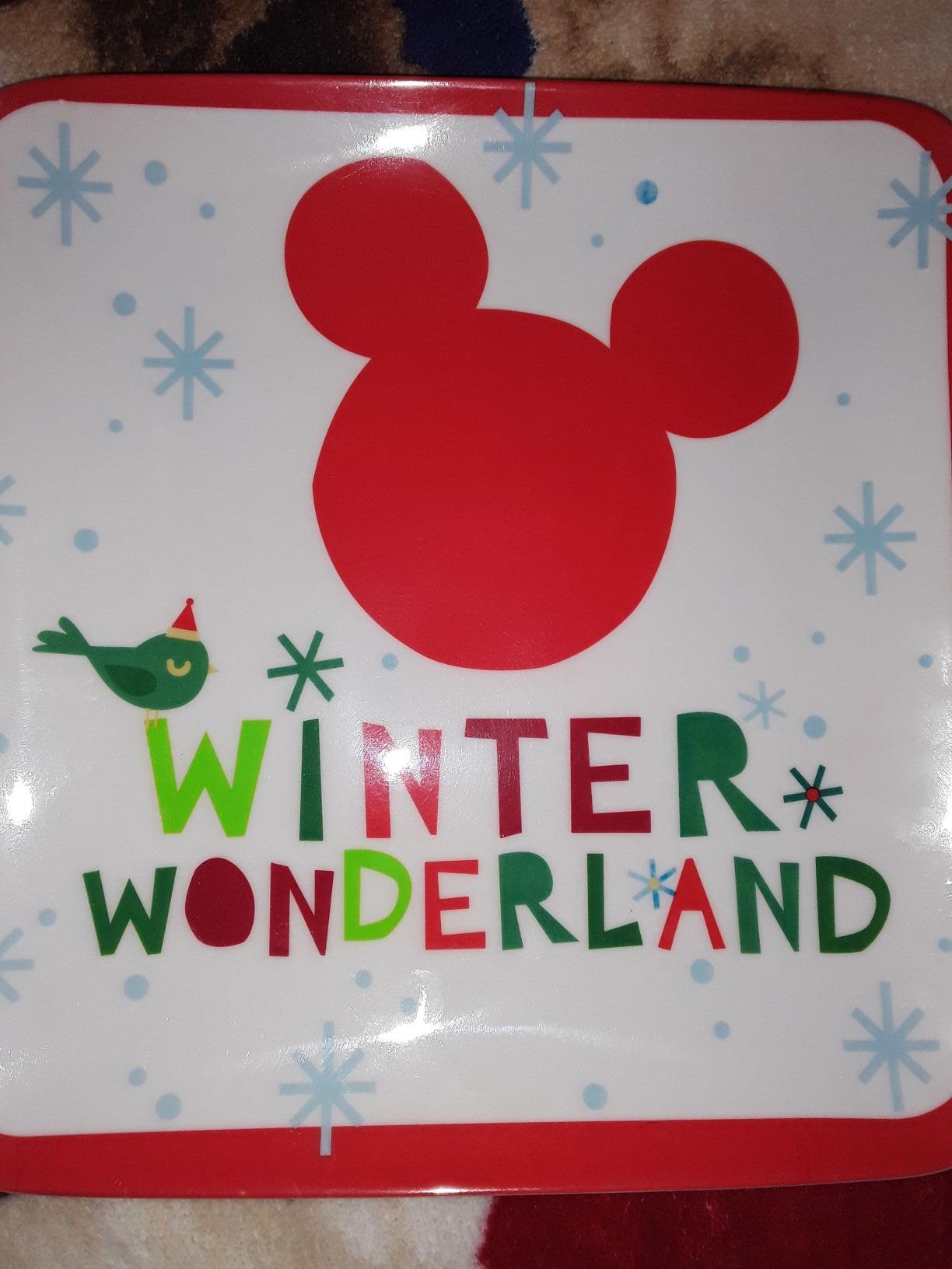 Walmart plato navideño de micky mouse