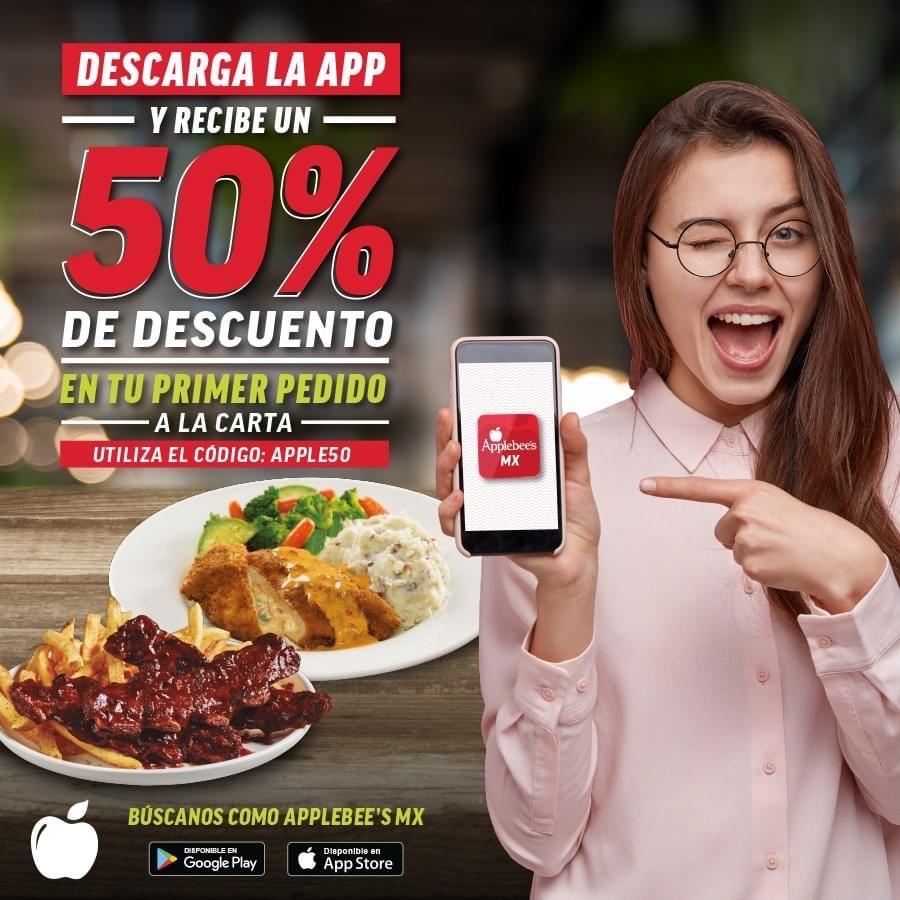 Zona norte de Mexico Applebees primera compra desde su página 50%