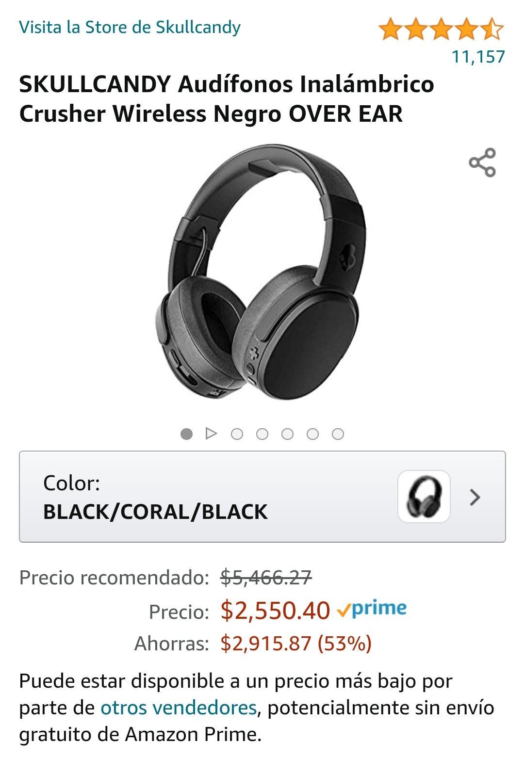 Amazon Mexico: Skullcandy Crusher Wireless