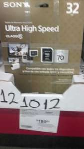 Sam's Club Universidad, Villahermosa: Micro SD Sony clase 10, 32GB a $199 y 64GB en $399