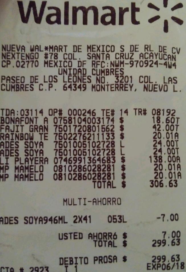 Walmart Monterrey cumbres: mamelucos $20.01