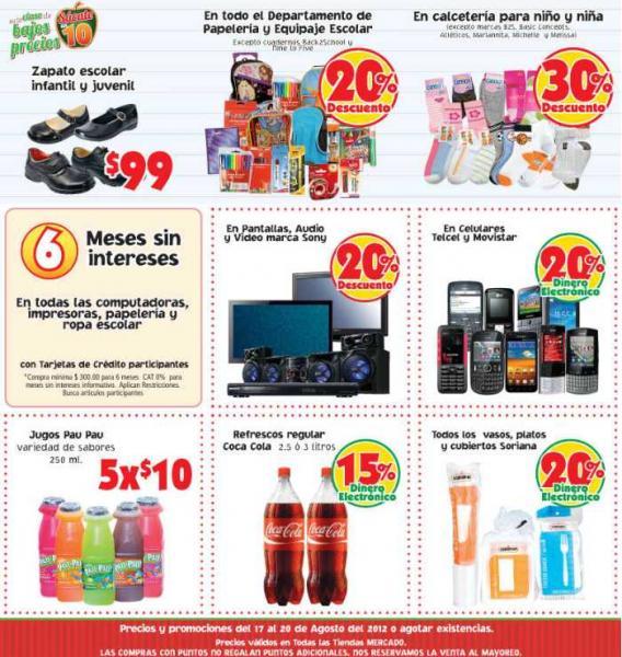 Mercado Soriana: ofertas en marca Sony, celulares Telcel y Movistar, papelería y más