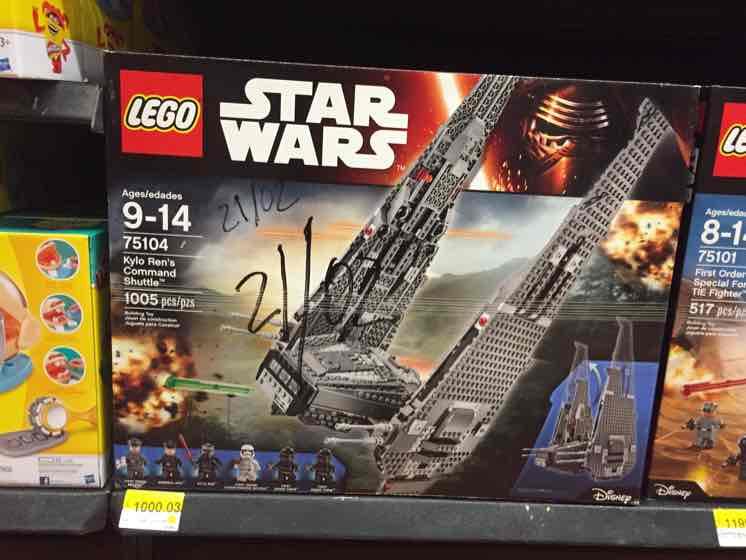 Walmart: Lego 75104 Nave de Kylo Ren a $1,000.03