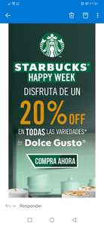 Dolce Gusto Starbucks: 20% de descuento
