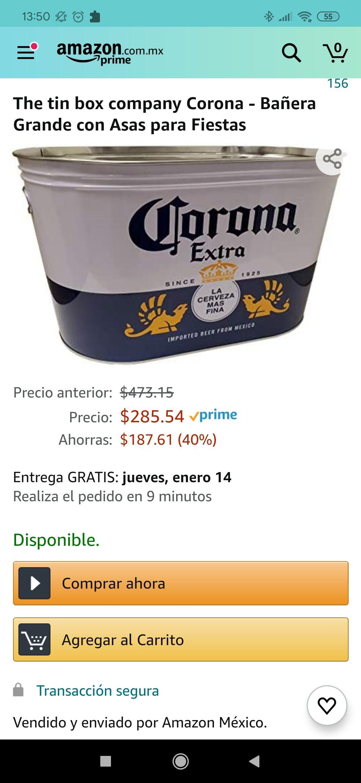 Amazon: Bañera, Tina para bebidas.