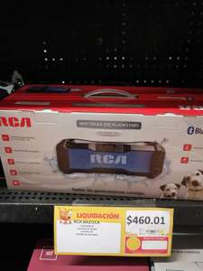 Walmart: $461.01 Bocina Bluetooth Portatil RCA SP316BTBL