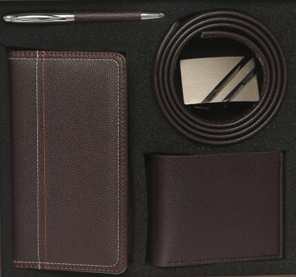 Liveroool: Set de regalo JBE 4 Piezas (1 bolígrafo, 1 cinturón, 1 cartera y 1 portadocumentos)