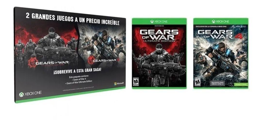 Elektra en tienda: Gears of War Ultimate Edition y Gears of War 4 para Xbox One (Versiones en físico) | $250