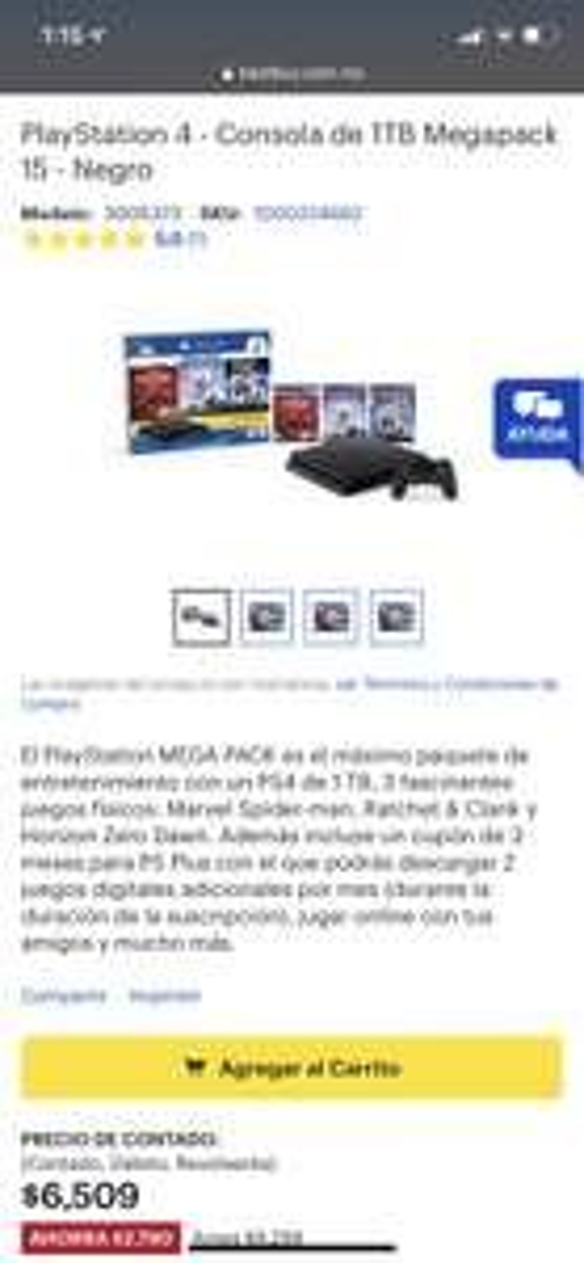 Best Buy: Consola Playstation 4 1 tb + 3 juegos (pack)